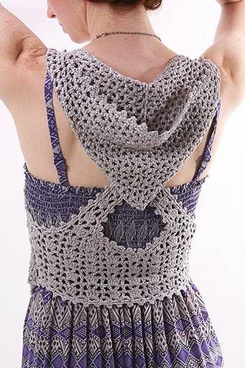 Patrones para Crochet: Chaleco Cruzado con Capucha Patron | crochet ...