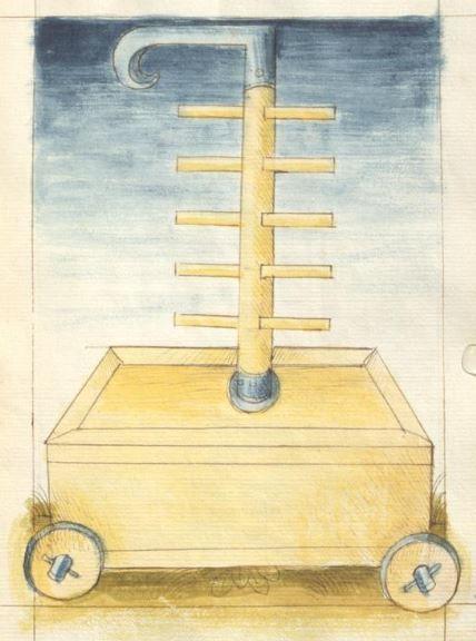 Bellifortis VerfasserKyeser, Conradus  ErschienenElsaß, [um 1460] Ms. germ. qu. 15  Folio 82r