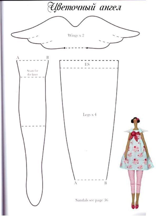 Como hacer una muñeca tilda, tutorial con el paso a paso | Muñecas ...