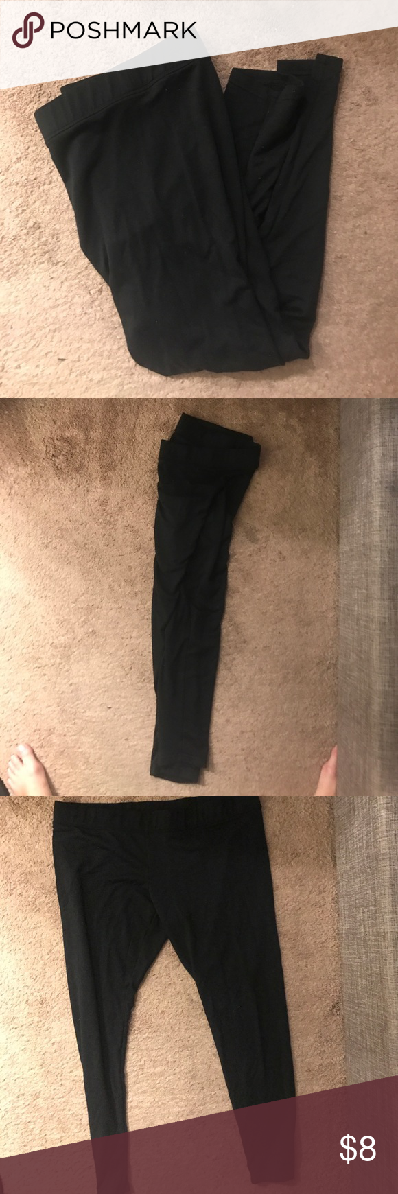 ba166e88258ed9 Merona leggings Merona leggings. Thicker then typical leggings. Worn once  from a smoke free home. See picture for material. Merona Pants Leggings