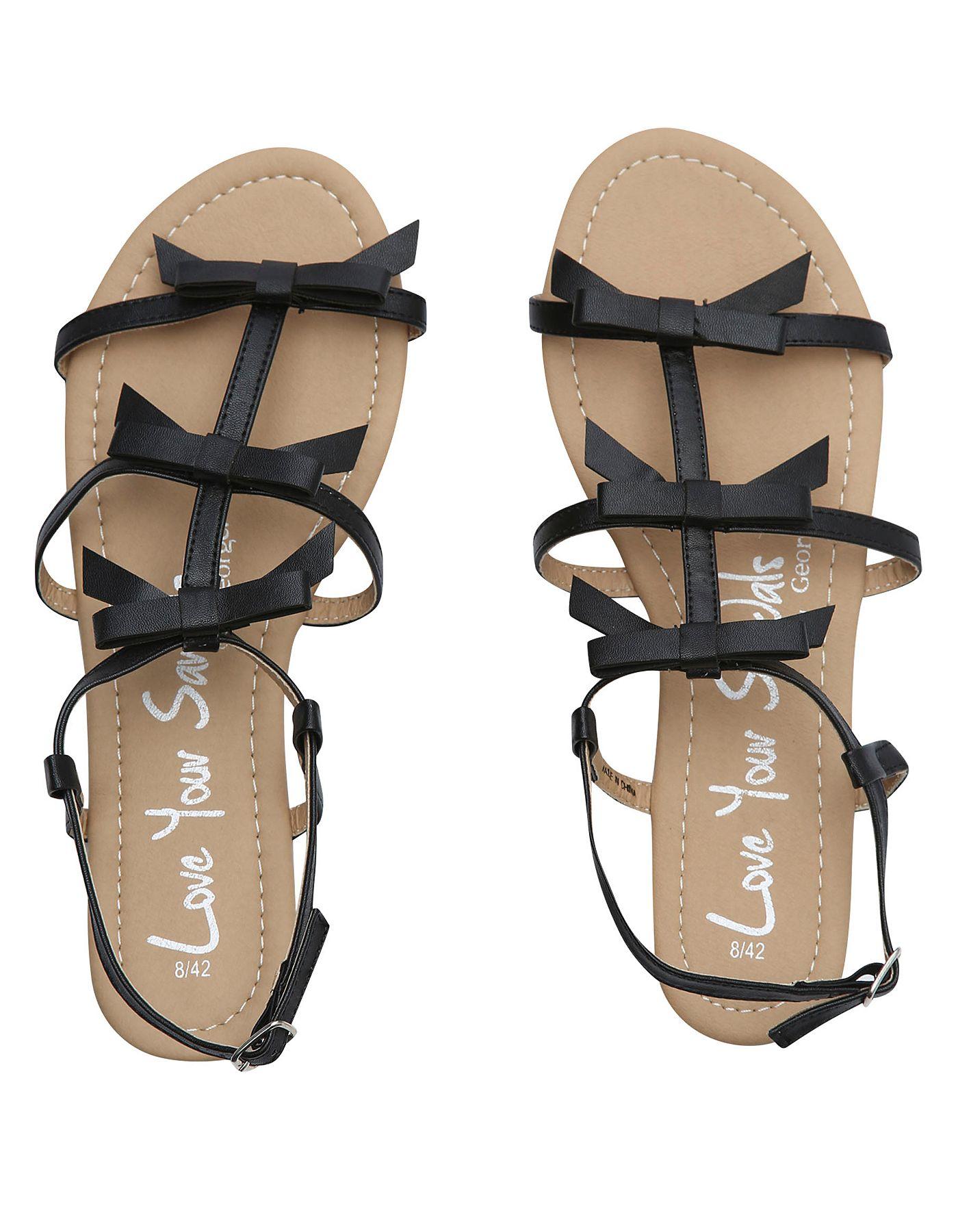 Black sandals asda - George At Asda Bow Sandals