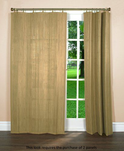 Elegant Bamboo Window Panels Grommets