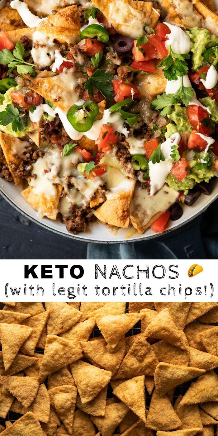 Keto Nachos (With Our Legit Tortilla Chips!) - gnom-gnom