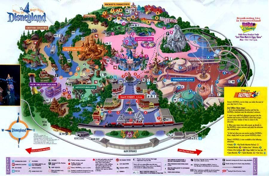 Disneyland 1955 Map Disneyland Map Of Park...