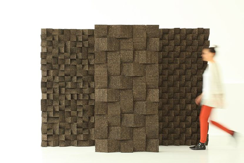 Braque (Tania da Cruz, 2013): a modular tile made of expanded cork that has good acoustic and isolating qualities.