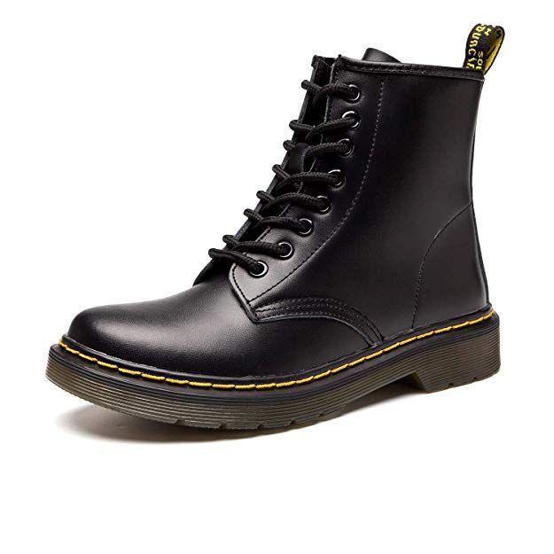 89920b4d51aa SITAILE Unisex-Erwachsene Bootsschuhe Derby Schnürhalbschuhe Kurzschaft  Stiefel Winter Boots für Herren Damen Schwarz EU38