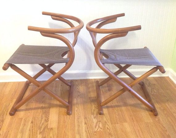 Attractive Mid Century Modern Bentwood Folding ChairS Made In Romania Unique Modern  Pair Of Chairs Camp Chair