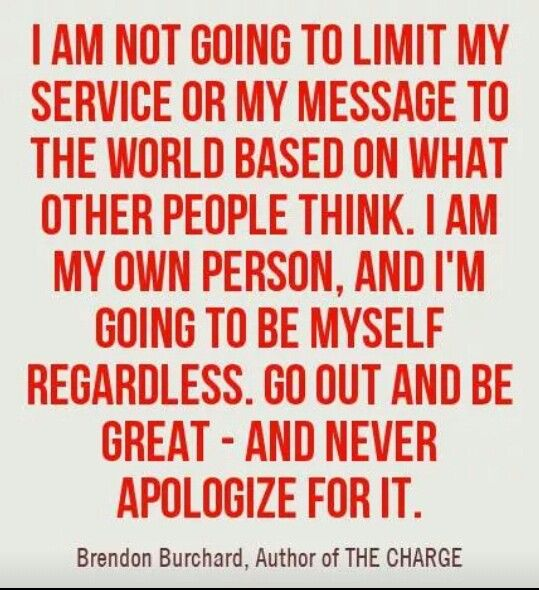 Im My Own Person Quotes Motivational Life Motivational