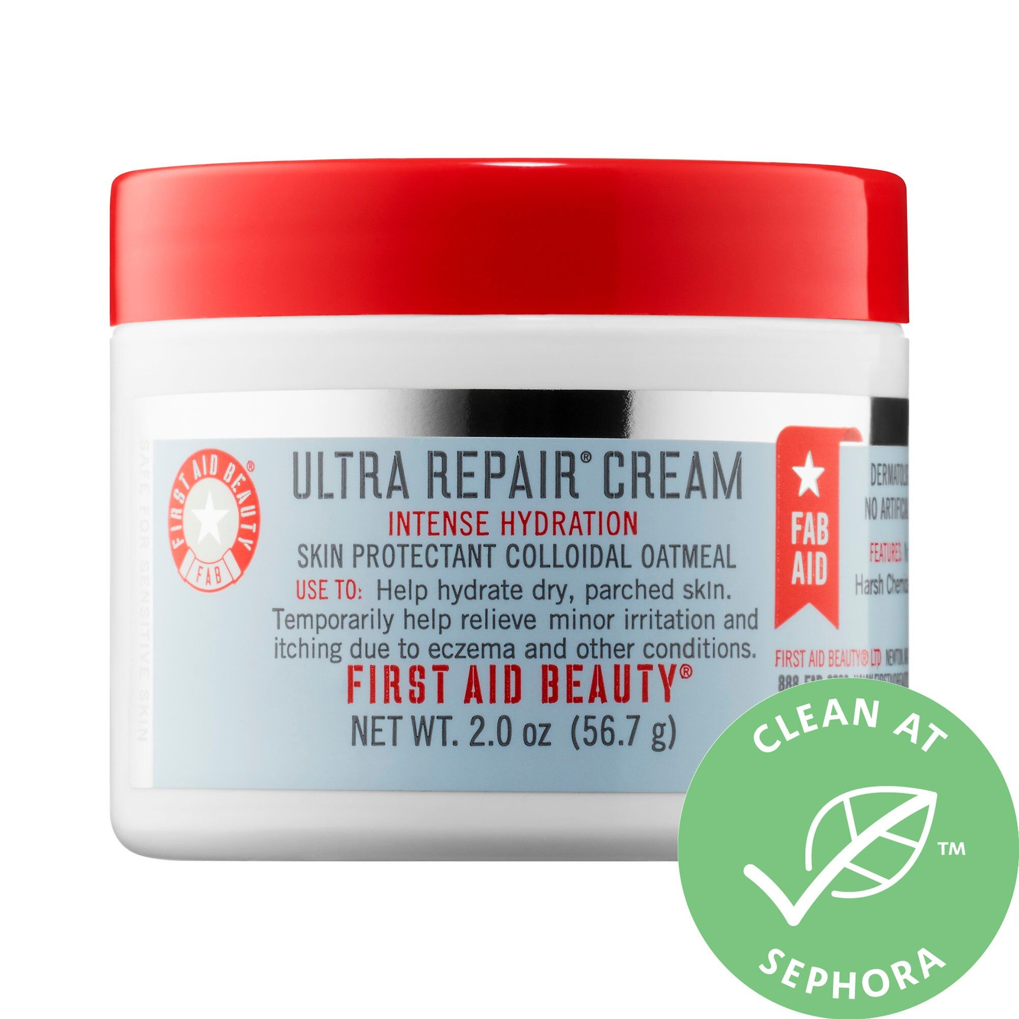 Mini Ultra Repair Cream Intense Hydration First Aid Beauty Sephora Repair Cream First Aid Beauty Soothing Moisturizer
