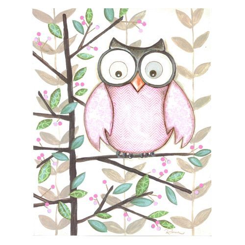 Lovely One Pink Owl Framed Art Print This Childrenu0027s Art Design Is Printed On  Paper And Framed Behind Plexiglass For Safety! Please Choose A Frame Design  To Make ...