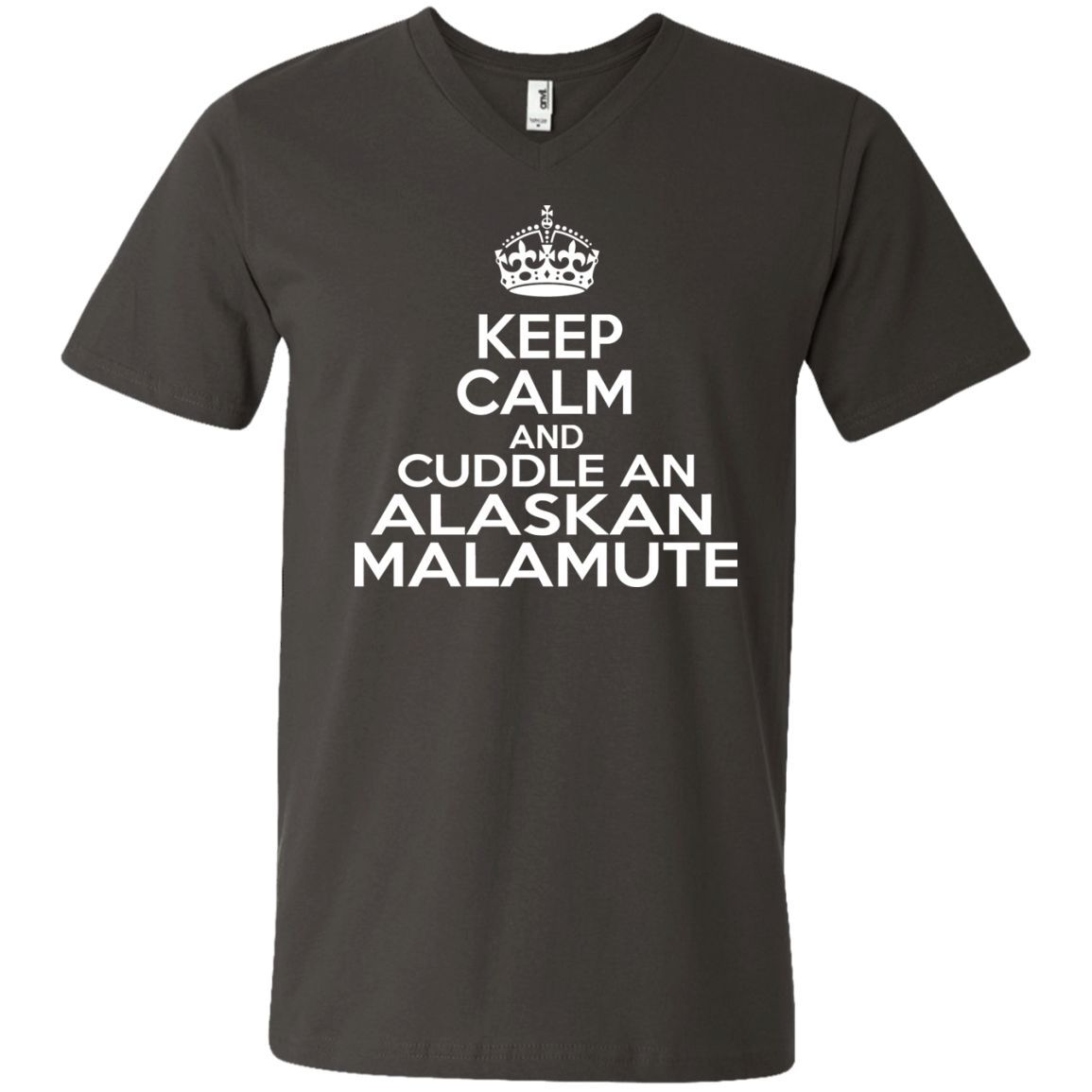 Keep Calm And Cuddle An Alaskan Malamute V Neck Tees