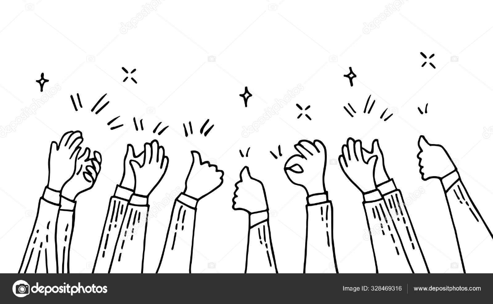 Download Doodle Hands Up Hands Clapping Applause Gestures Congratulation Business Vec Business Vector Illustration Vector Illustration Stock Illustration