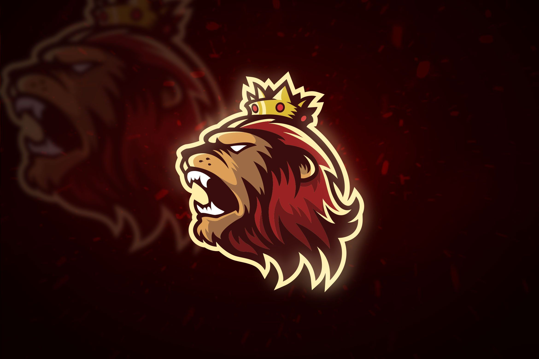 King Lion Mascot & Esport Logo in 2020 | Logo design art ...