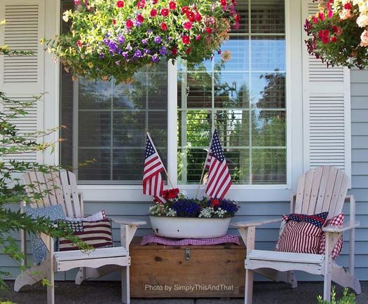 4th Of July Decorations Patriotic Pictures For Great Ideas Front Porch Decorating 4th Of July Decorations Porch Decorating