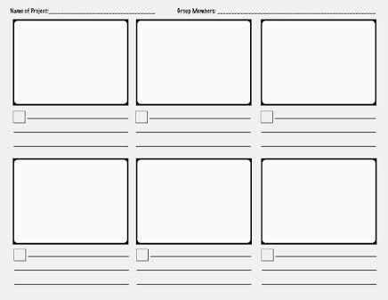 Storyboard Templates Storyboard Template Storyboard Ideas