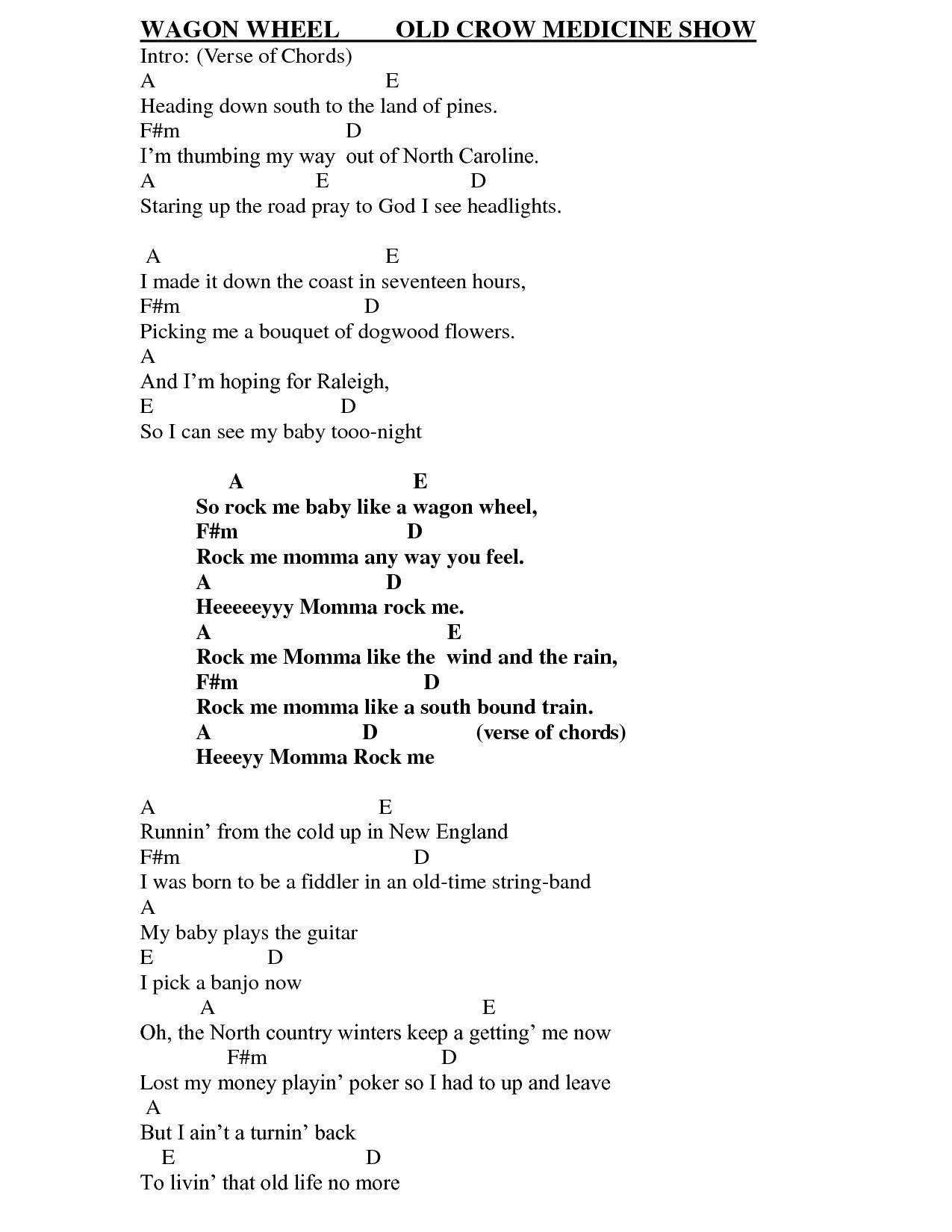 Wheel Nathan Carter Wagon Wheel Lyrics