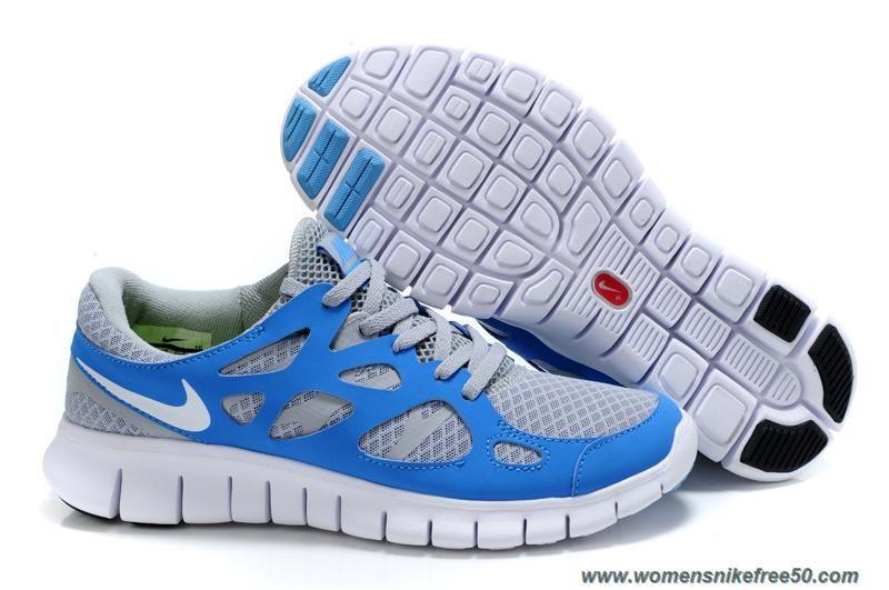 Stealth Pure Platinum Neptune Blue Mens 443815-114 Nike Free Run 2 Sale