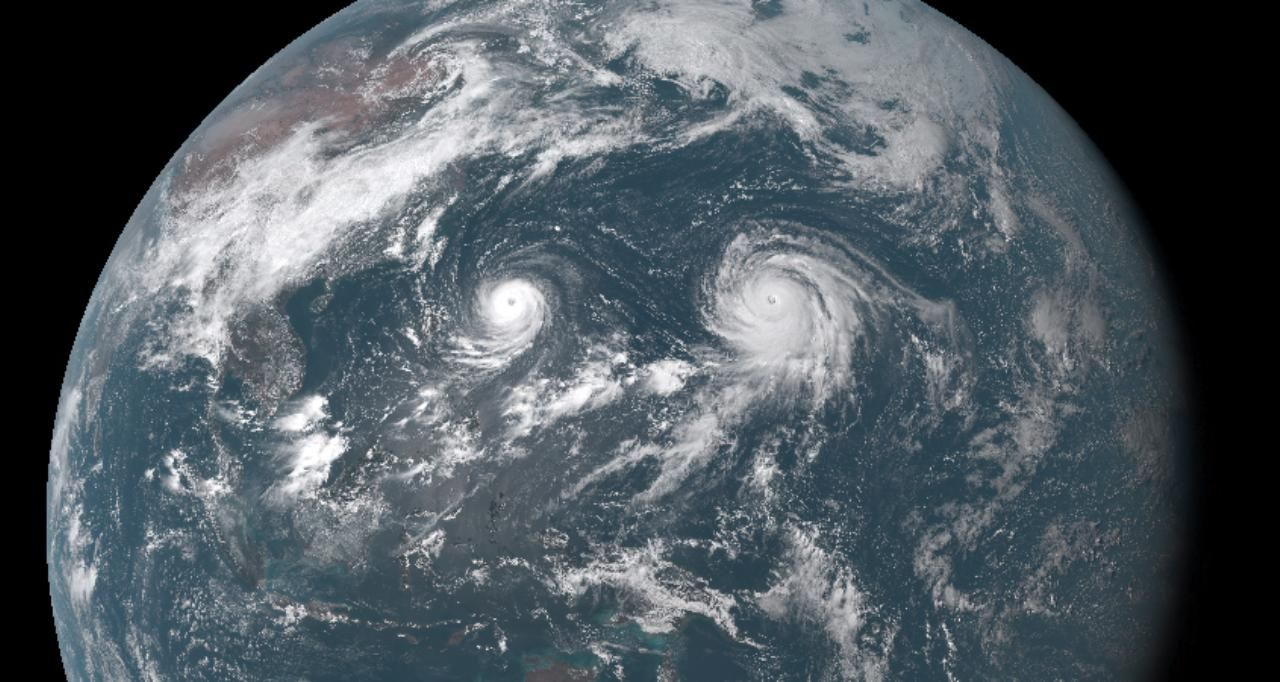 Double typhoons: Atsani and Goni!