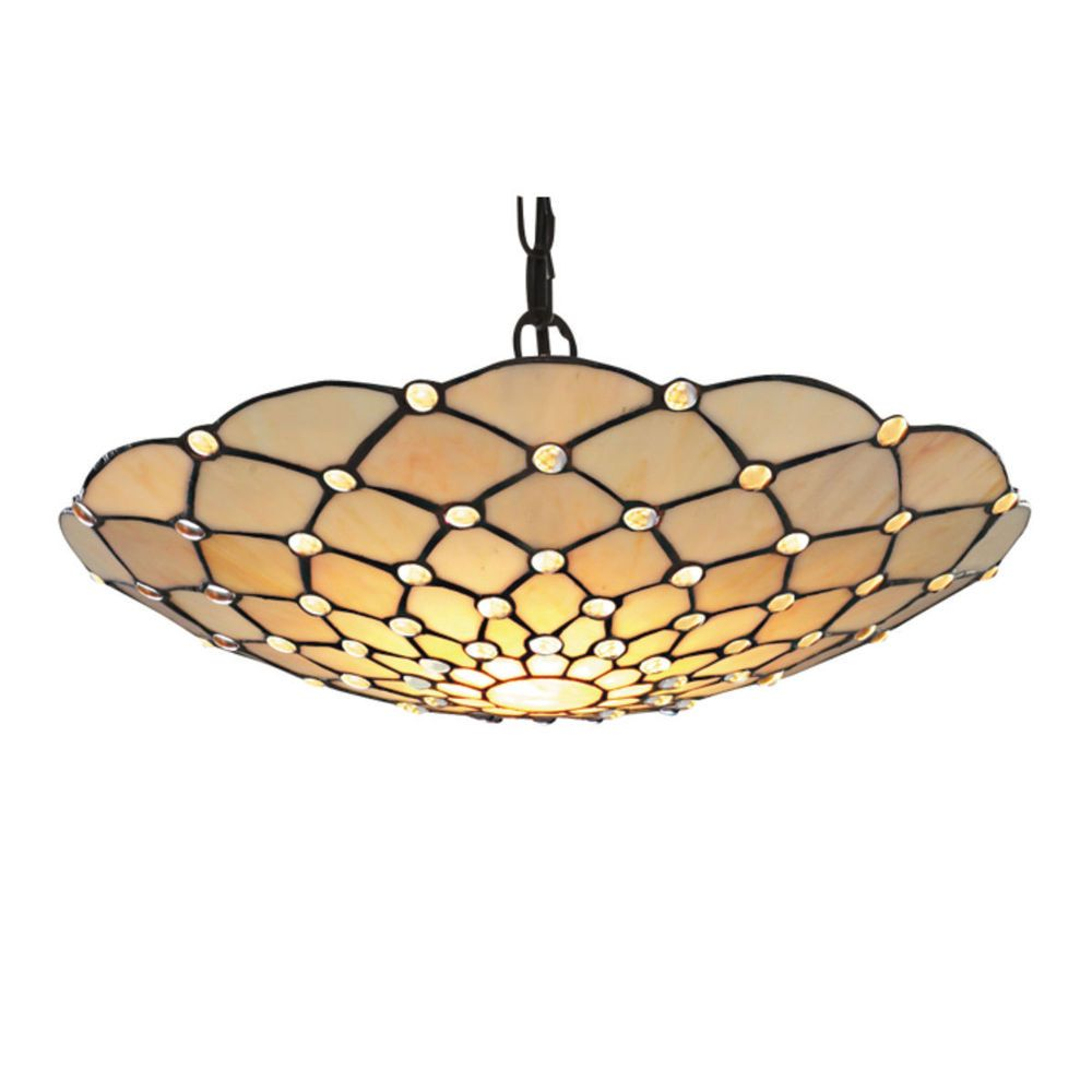 Searchlight 1468CL Raindrop Easy Fit Pendant Clear Droplet Tiffany Style Glass #Searchlight #TiffanyLighting