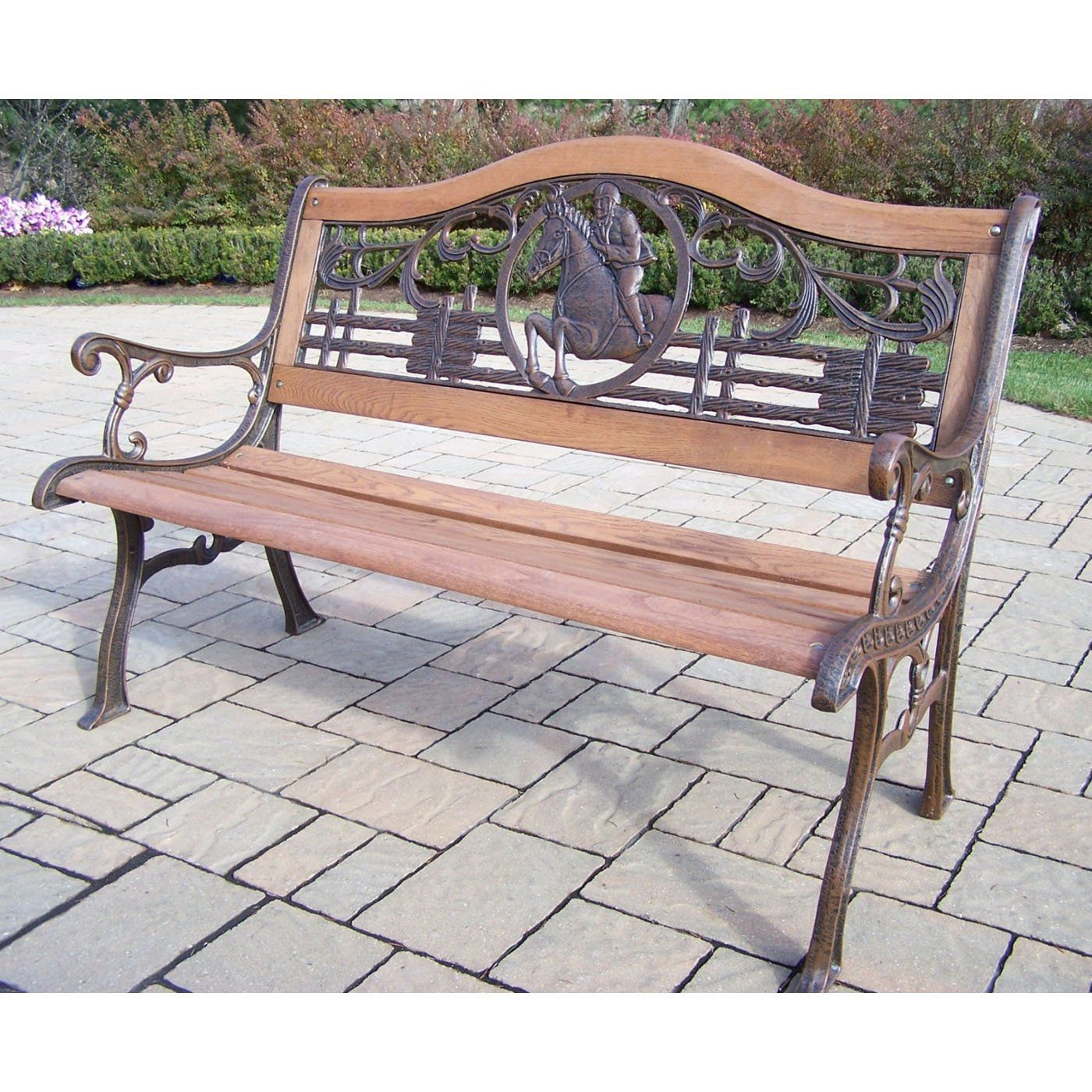 Oakland Living 6126 2 Ab Animals Horse Bench Oakland Living Buy Outdoor Furniture Outdoor Furniture - Garden Furniture Clearance Tunbridge Wells