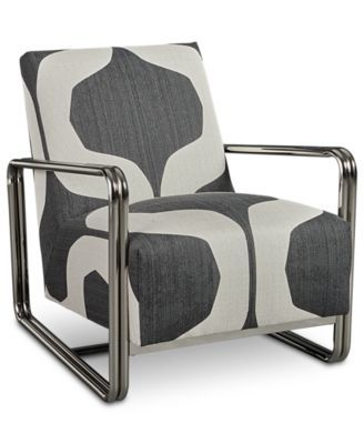 Magnificent Kolby Printed Accent Chair Created For Macys Macys Com Forskolin Free Trial Chair Design Images Forskolin Free Trialorg
