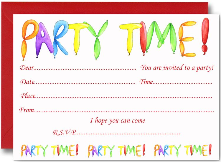 Cool Free Birthday Party Invites For Kids Bagvania Invitation