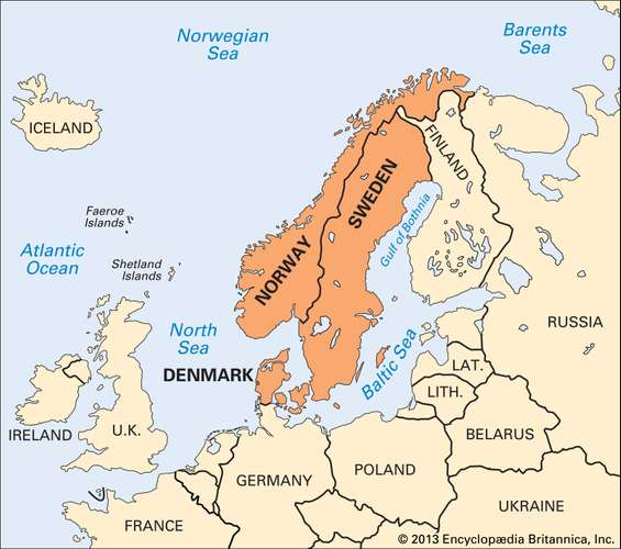 Scandinavia Countries Map Facts In 2020 Scandinavia Map Germany Poland