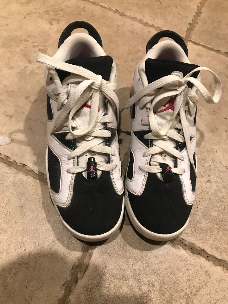 750ada5b87eb Nike Air Jordan 6 Low GS White Black Fireberry-Fuchsia Sz.8Y (EUR41)768878- 107  fashion  clothing  shoes  accessories  kidsclothingshoesaccs   unisexshoes ...