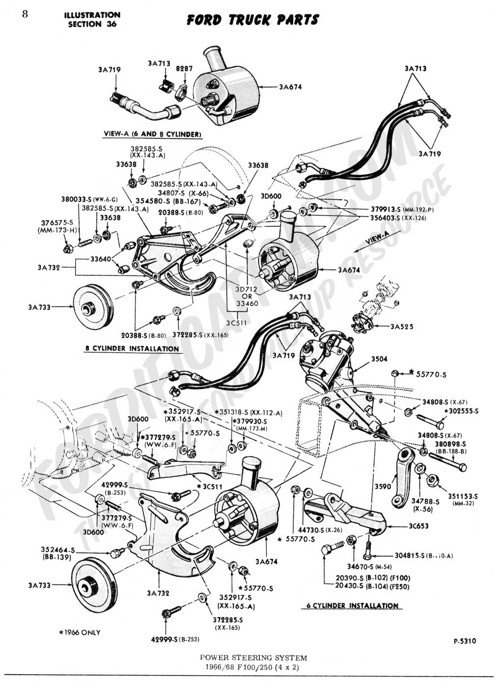 1977 ford truck steering diagram | Power Steering System