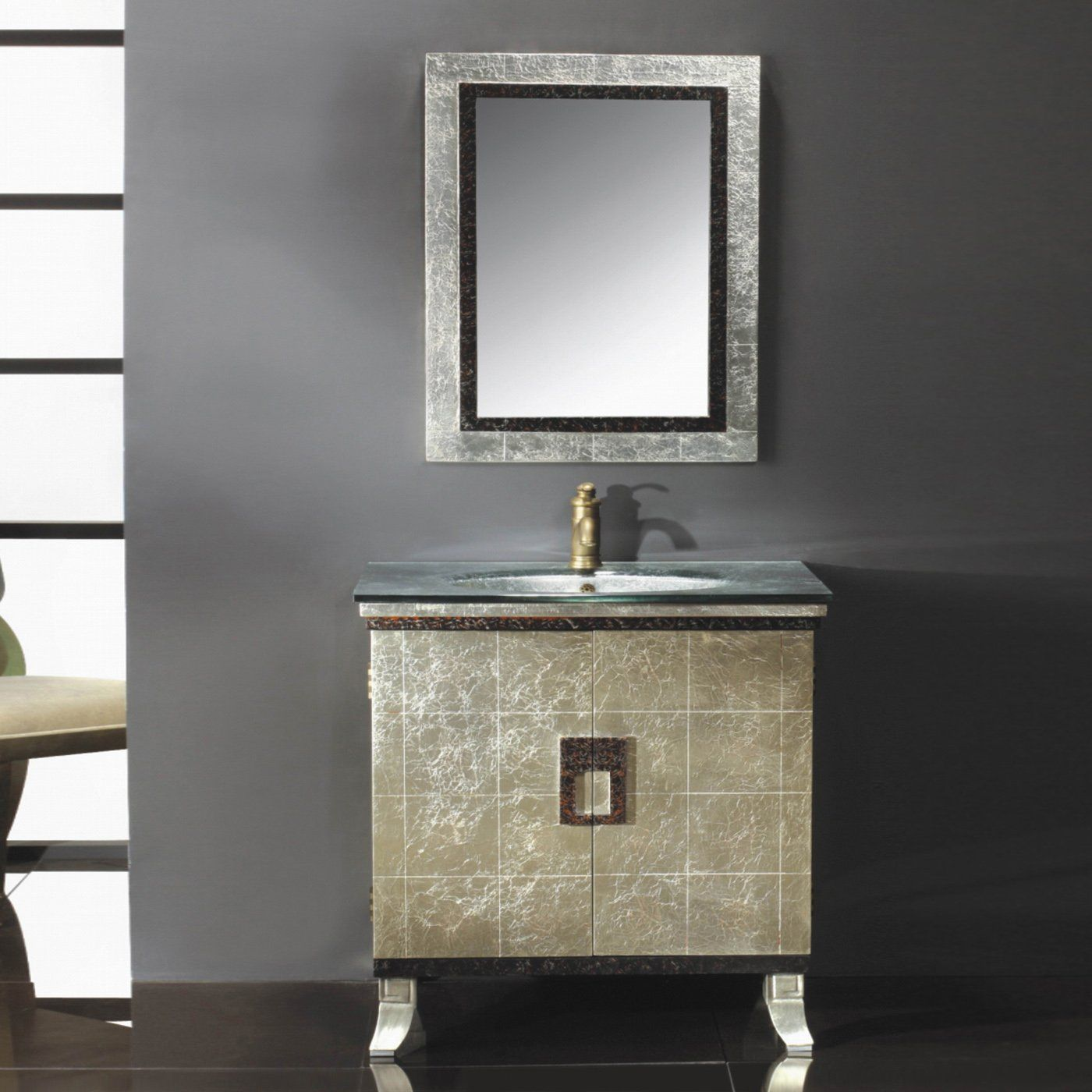 Yosemite Home Decor Rassgd 09a Contemporary Single Vanity Vanity