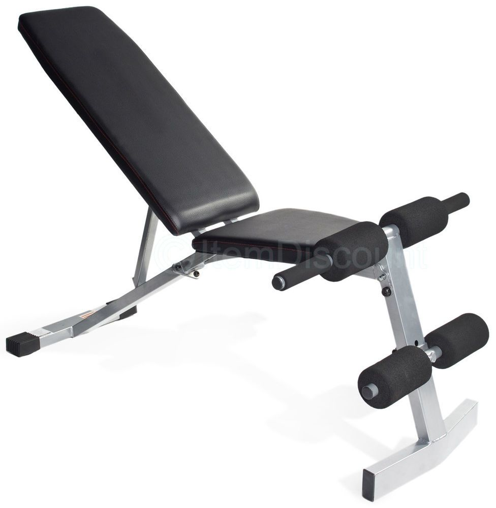 Adjustable Weight Bench Exercise Workout Gym Ab Flat