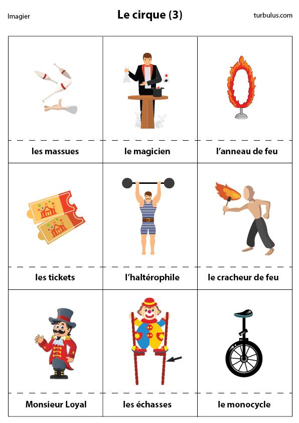 Imagier Le Cirque Massues Magicien Anneau De Feu Ticket