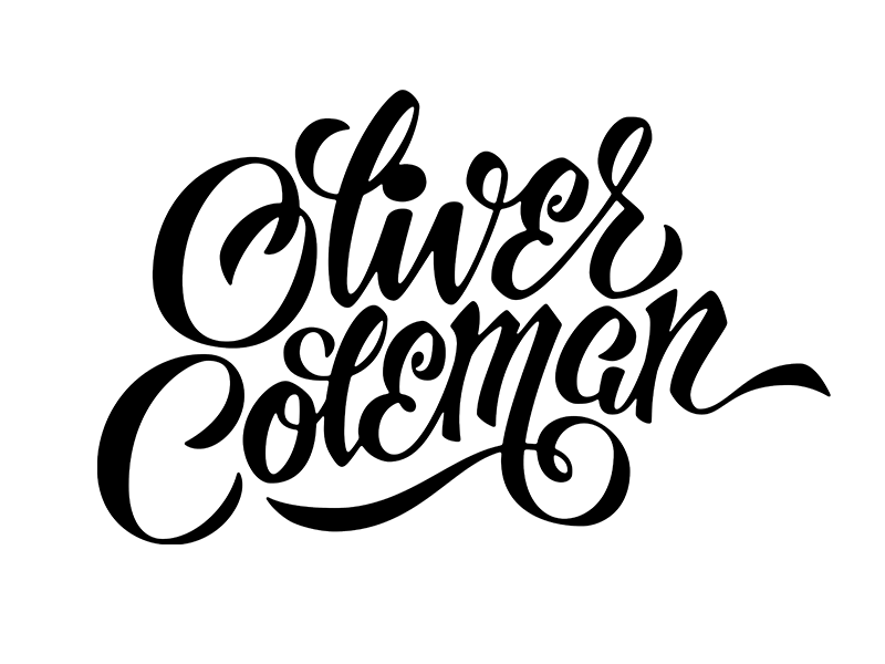Download Remembering Oliver Coleman | Typography letters, Lettering ...