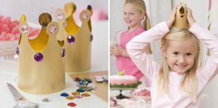 Gullkroner - http://www.dansukker.no/no/inspirasjon/barneselskap/eventyrselskap/aktiviteter-og-leker.aspx #barneselskap #lek