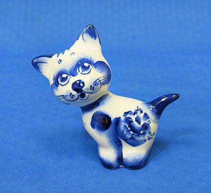 Котенок по имени Гав, гжель синяя, П  1 Котенок по имени Гав, гжель синяя, П  Артикул:030202,284 Высота:80 мм Материал:Фарфор  Цена:130 руб.