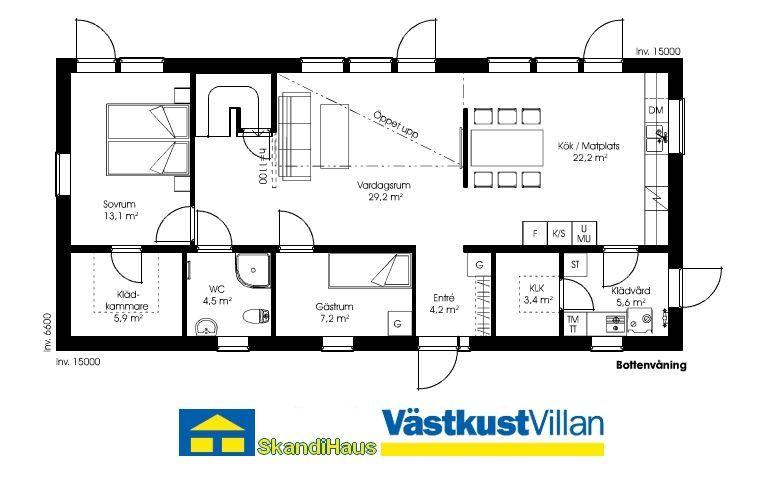 Schwedenhaus grundriss  Schwedenhaus eineinhalbgeschossig SkandiHaus 170 Grundriss ...