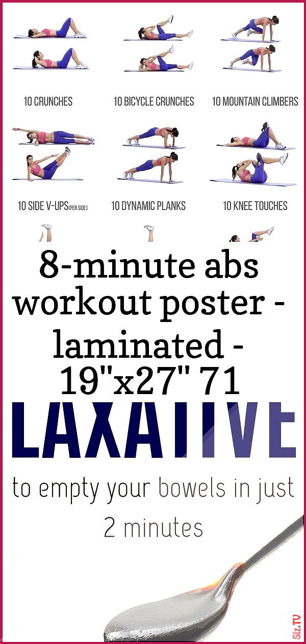 8-minute abs workout poster  laminated  19 8243 x27 8243 71 8-minute abs workout poster  laminated...