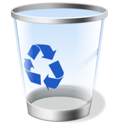 Technical Marks Recycle Or Trash Files Icon Qbn Com Recycling Bins Glassware Icon