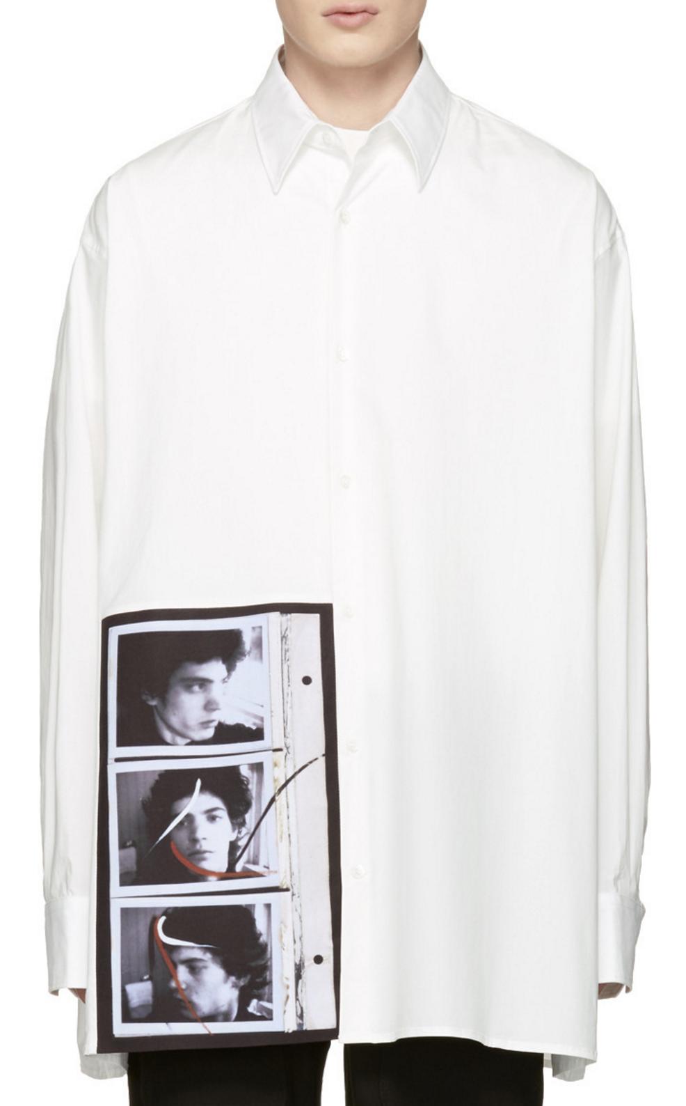 914b2d5b7e Raf Simons Off-White Robert Mapplethorpe Edition Self Portrait Oversized  Shirt from SSENSE (men