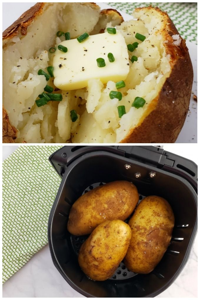 Baked Potato Air Fryer Recipe in 2020 Air fryer recipes