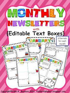 editable newsletters for parent teacher communication