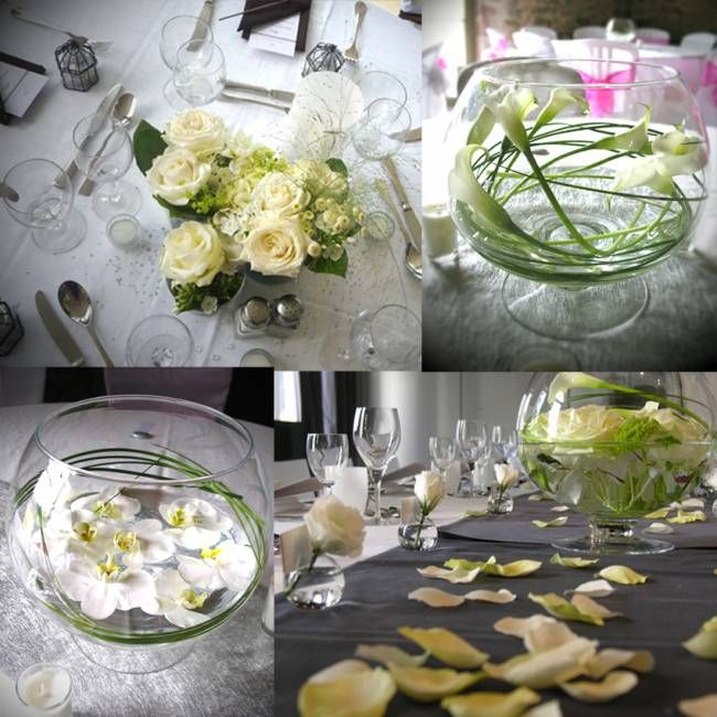 Centre De Table Mariage Champagne Au Mont D 39 Or Centre De Table Cr Ation Marie P Tale
