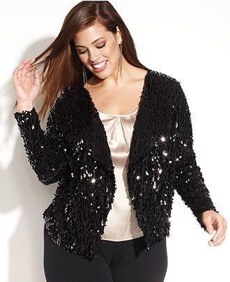 14991bcfe33 Plus Size Sequin Jacket