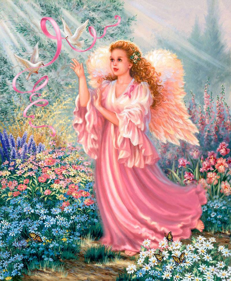 Розовые ангелы картинки