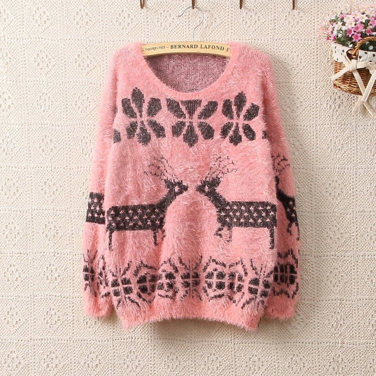 2013 Winter Mr.Peter Rabbit Pattern Print Knitted Pullover ...