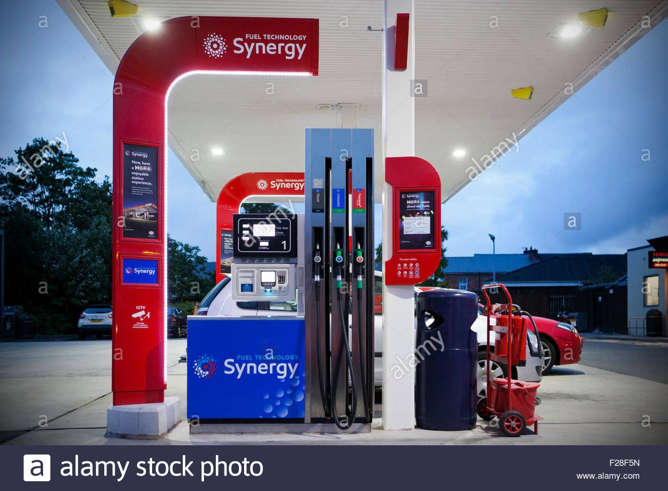 Download This Stock Image New Modern Synergy Exxon Mobil Petrol Pumps In Pilling Lancashire Uk F28f5n From Alamy S Library Of Mill Exxon Photo Stock Photos