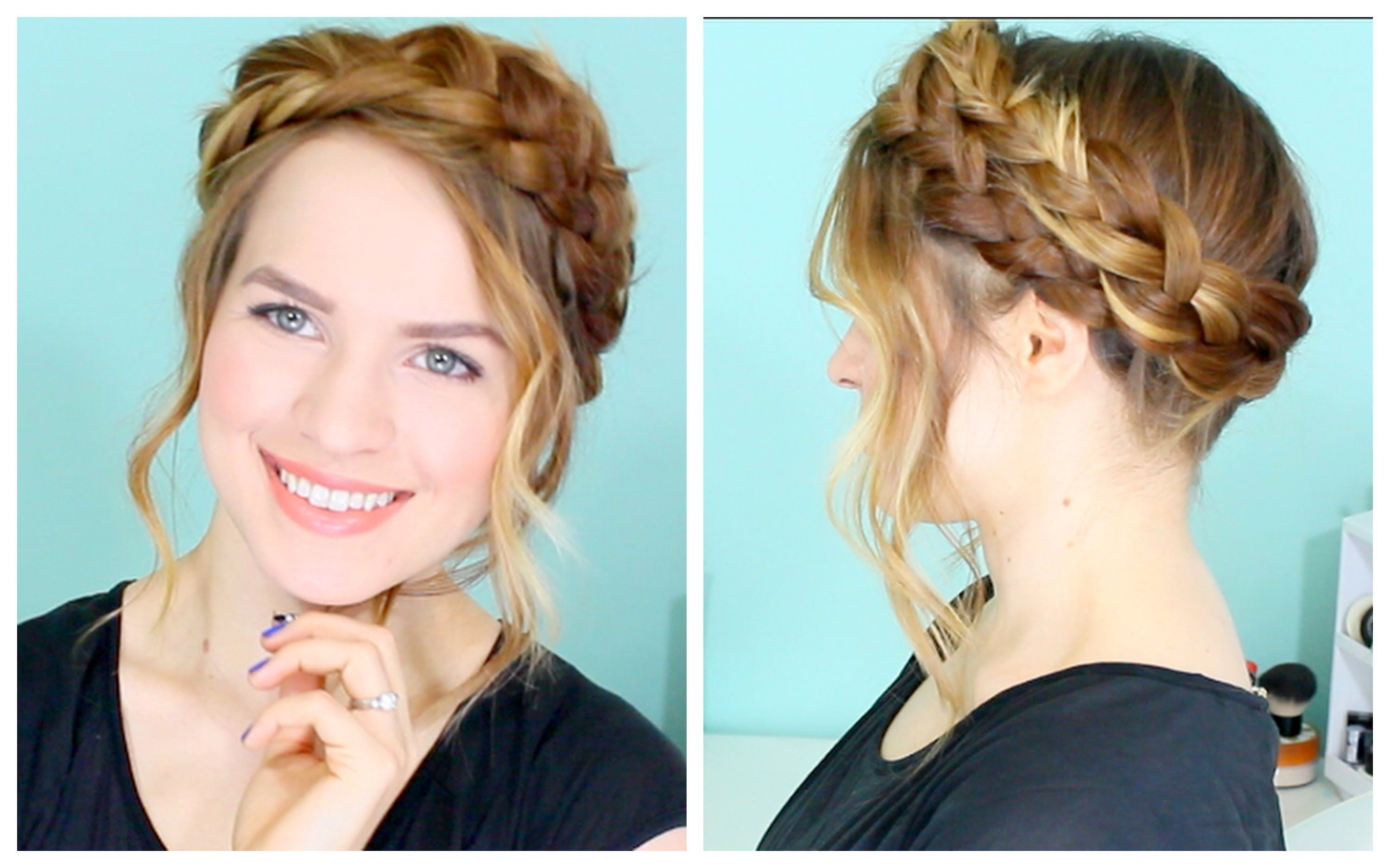 How To Easy Crown Braid Hair Tutorial With Images Braided