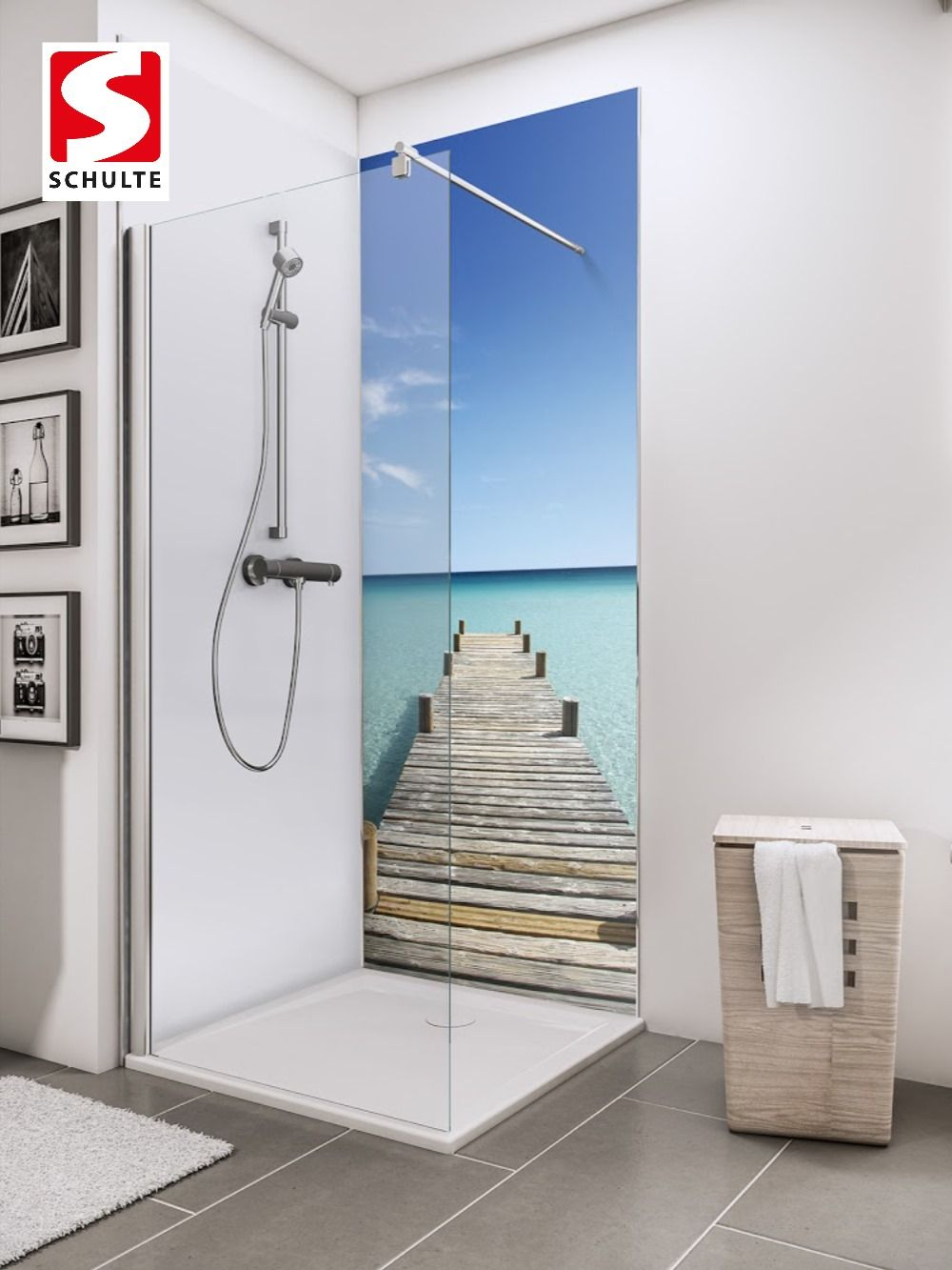 Schulte Duschruckwande Decodesign Foto Steg Malediven Paneel Wandverkleidung Bad Idee In 2020 Wandverkleidung Bad Duschruckwand Dusche
