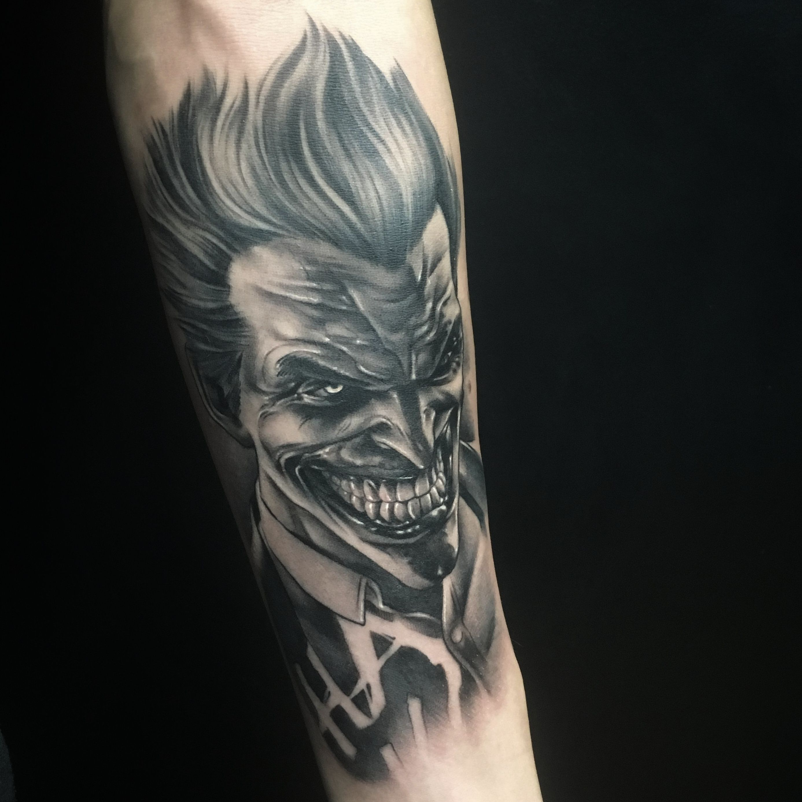 Joker Tattoo By Pablo Munilla Tattoos Tattoos For Guys