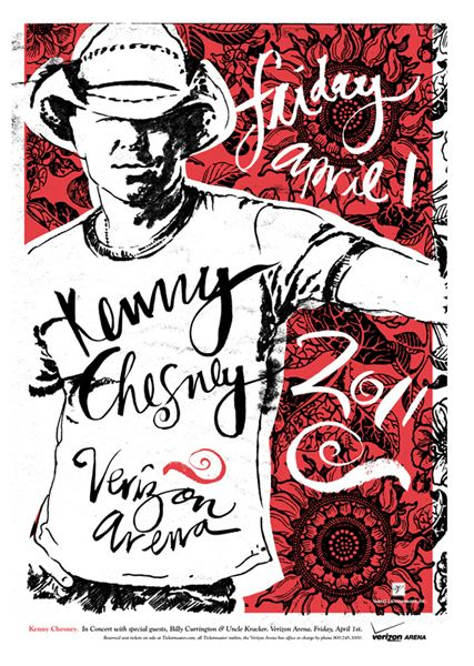 Kenny Chesney Kenny Chesney Concert Concert Poster Art Concert Posters